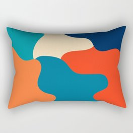 Retro color palette abstract minimalist abstract art Rectangular Pillow