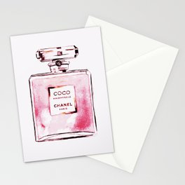 Classic Pink, Perfume bottle, Fashion Cute Minimalism Poster Stationery Cards