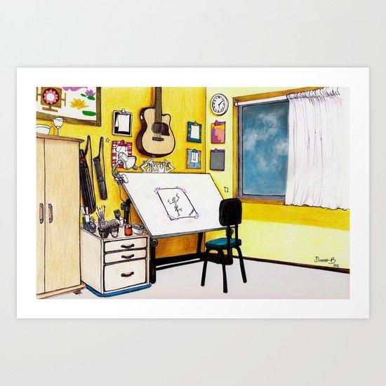 MEMORIES OF MY INNER CHILD 3# Art Studio of my Dreams Art Print