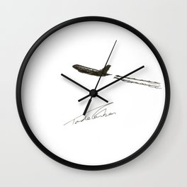 There goes my will by Tade Garben Wall Clock