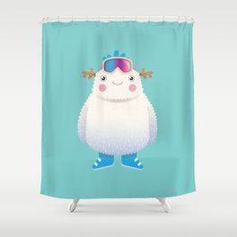 Cute Yeti Shower Curtain