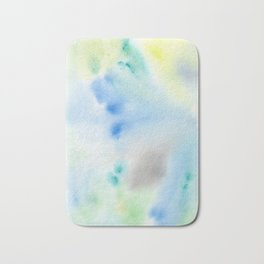 Abstract Watercolor Bath Mat