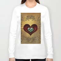 hearts Long Sleeve T-shirts featuring Hearts by nicky2342