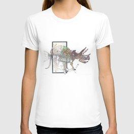 rose-Fish-bone dinosaur T-shirt