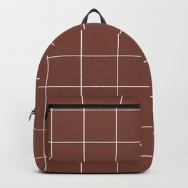 Graph Paper (White & Brown Pattern) Backpack