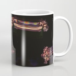 Soft Pink Carnations, Real Flowers, Black Background, Dark Art, Dark Flowers, Soft Grunge Coffee Mug