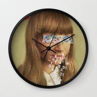 lost in translation Wall Clocks featuring Lost in Translation by Low Low