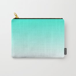 Modern bright simple mint green white color ombre gradient Carry-All Pouch