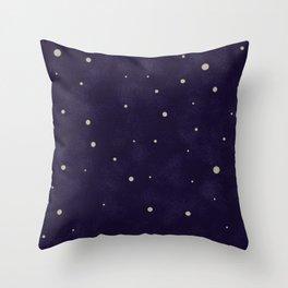 Starlit night Throw Pillow