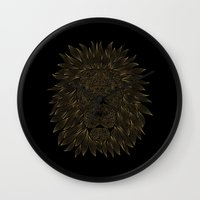 lannister Wall Clocks featuring lion / black by Anna Grunduls