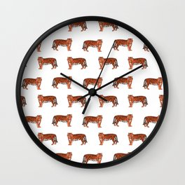 Tigers orange and purple clemson football fan varsity university college athletics Wall Clock