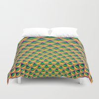 fibonacci Duvet Covers featuring Pineapple Chunk by Objowl