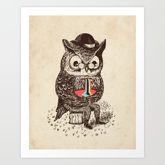 Strange Owl Art Print
