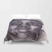 biggie Duvet Covers featuring BIGGIE by Tara Dacle