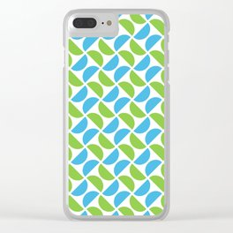 HALF-CIRCLES, GREEN AND BLUE Clear iPhone Case