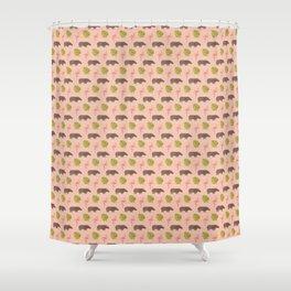 Hippos and flamingos Shower Curtain