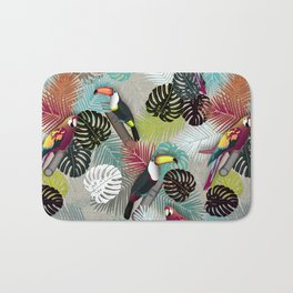 Tropical Birds (Color 2 - Bold) Bath Mat