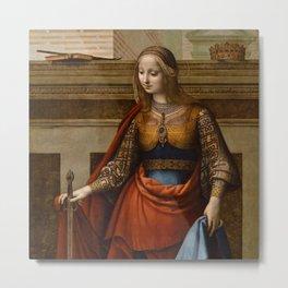 "Fernando Yáñez de la Almedina ""Saint Catherine of Alexandria"" Metal Print"
