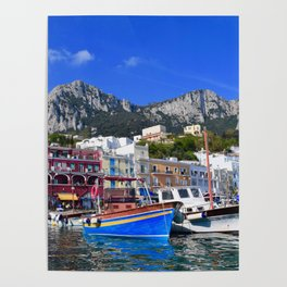 The Beach in Capri, Italy Poster