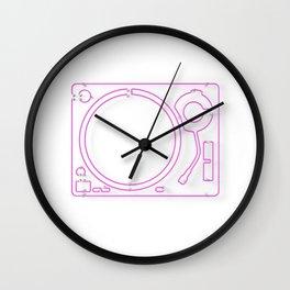 Neon Turntable 2 - 3D Art Wall Clock