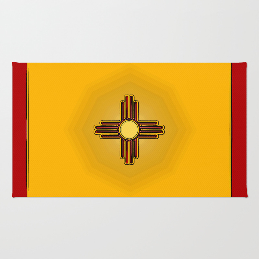 Fancy Flag: New Mexico Rug by Havocgirl RUG8808076