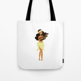 Ukulele Girl Tote Bag