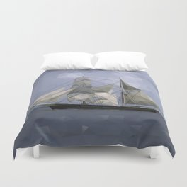 Sailing Ship Duvet Cover
