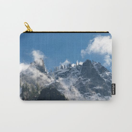 Snow Covered Peaks in Yosemite National Park Carry-All Pouch