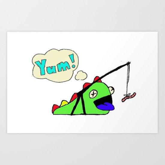 Hungry Slug Monster Art Print