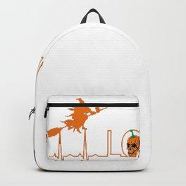 Pumpkin Halloween Heartbeat Nurse Love Backpack