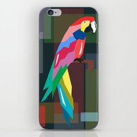 parrot iPhone & iPod Skins featuring parrot by mark ashkenazi