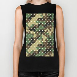 CAMO & WHITE BOMB DIGGITYS ALL OVER LARGE Biker Tank