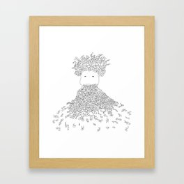 Beardy Framed Art Print