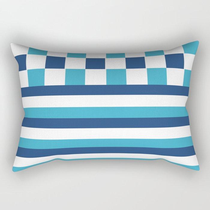 Blue summer stripes Rectangular Pillow