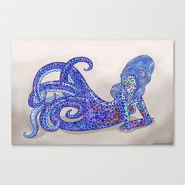 Bobtail Squid Mermaid Canvas Print