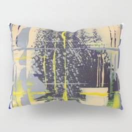 Sunday Morning - blue check Pillow Sham