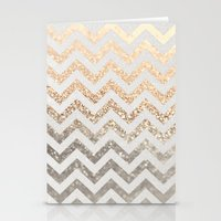 silver Stationery Cards featuring GOLD & SILVER  by Monika Strigel