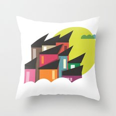 Houses of Colors Throw Pillow