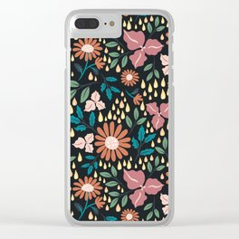 Floral Clusters Clear iPhone Case