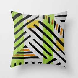 Slants Triangles and Straights Throw Pillow