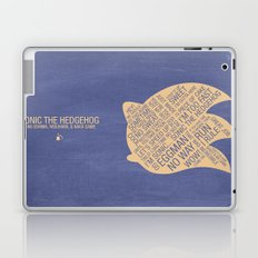 Sonic the Hedgehog Typography Laptop & iPad Skin