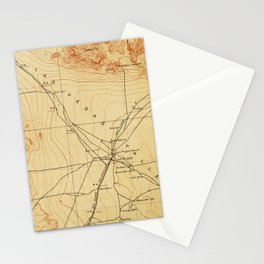 Vintage Map of The Las Vegas Valley NV (1907) Stationery Cards