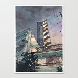 Tokyo at Night 02 Canvas Print