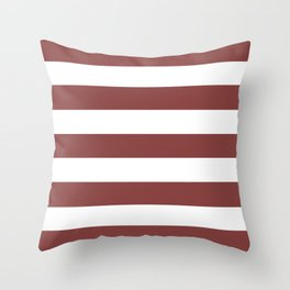 Brandy - solid color - white stripes pattern Throw Pillow