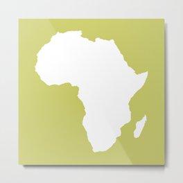 Khaki Audacious Africa Metal Print