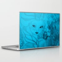 frozen elsa Laptop & iPad Skins featuring Frozen Elsa by ALynnArts