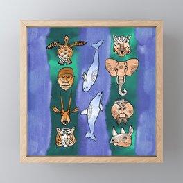 Wild animals Framed Mini Art Print