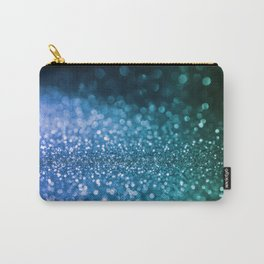 Foam on the sea - Blue glitter effect texture Carry-All Pouch