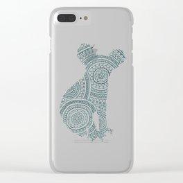 Koala Circle Art Clear iPhone Case