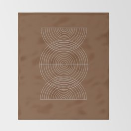 Burnt Orange, Geometric shape Throw Blanket